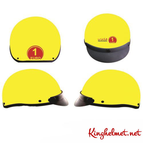 Mẫu nón bảo hiểm quảng cáo Euro làm quà tặng ở TPHCM xưởng sản xuất Kinghelmet