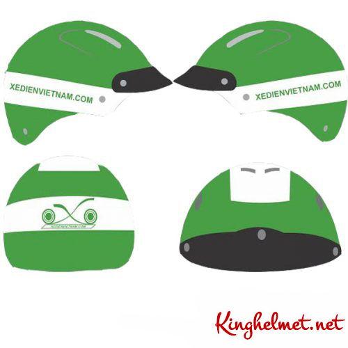 Mẫu nón bảo hiểm quảng cáo Xe Đạp Điện ở TPHCM xưởng sản xuất Kinghelmet