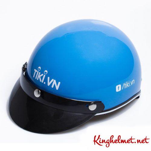 Mẫu nón bảo hiểm quảng cáo Tikivn làm quà tặng ở TPHCM xưởng sản xuất Kinghelmet