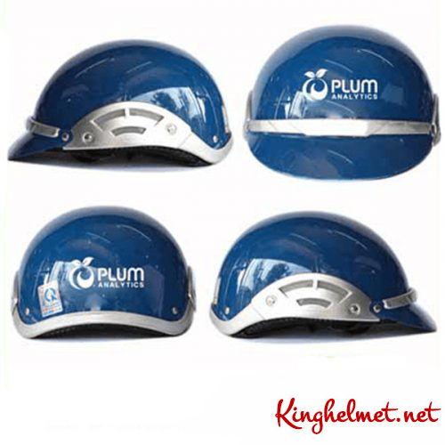 Mẫu nón bảo hiểm quảng cáo Plum làm quà tặng ở TPHCM xưởng sản xuất Kinghelmet