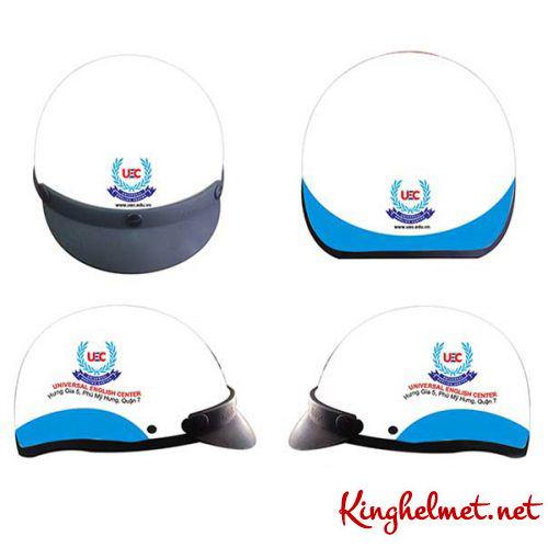 Mẫu nón bảo hiểm quảng cáo Universal làm quà tặng ở TPHCM xưởng sản xuất Kinghelmet