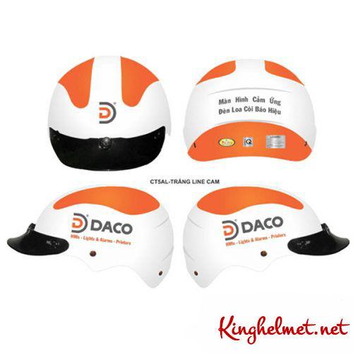 Mẫu nón bảo hiểm quảng cáo Daco làm quà tặng ở TPHCM xưởng sản xuất Kinghelmet