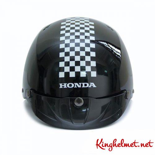 Mẫu nón bảo hiểm quảng cáo Honda màu đen Kinghelmet