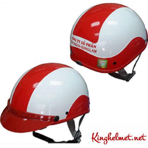 Mẫu nón bảo hiểm Bia Sài Gòn Sông Lam làm quà tặng ở TPHCM xưởng sản xuất Kinghelmet