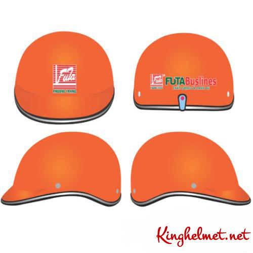 Mẫu nón bảo hiểm quảng cáo Futa làm quà tặng ở TPHCM xưởng sản xuất Kinghelmet