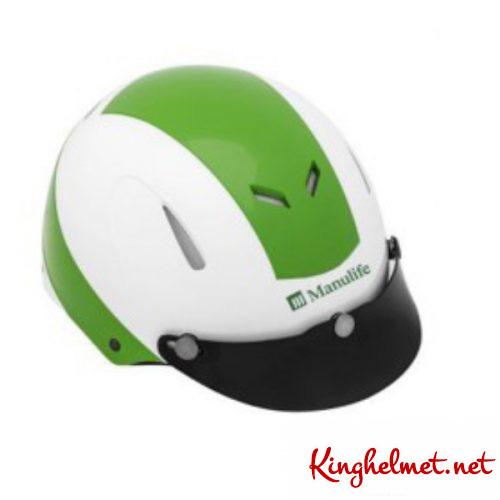 Mẫu nón bảo hiểm quảng cáo Manulife làm quà tặng ở TPHCM xưởng sản xuất Kinghelmet