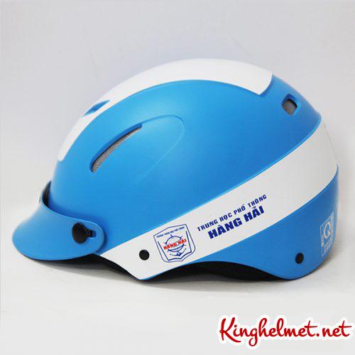 Mẫu nón bảo hiểm quảng cáo Hàng hải làm quà tặng ở TPHCM xưởng sản xuất Kinghelmet