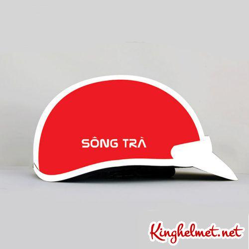 Mẫu nón bảo hiểm Sông Trà làm quà tặng xưởng sản xuất Kinghelmet