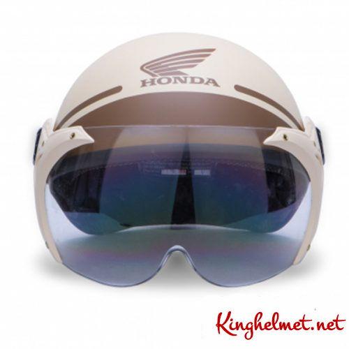 Mẫu nón bảo hiểm đại lý Honda có kính ở TPHCM xưởng sản xuất Kinghelmet