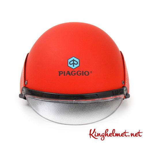 Mẫu nón bảo hiểm quảng cáo Piaggio ở TPHCM xưởng sản xuất Kinghelmet