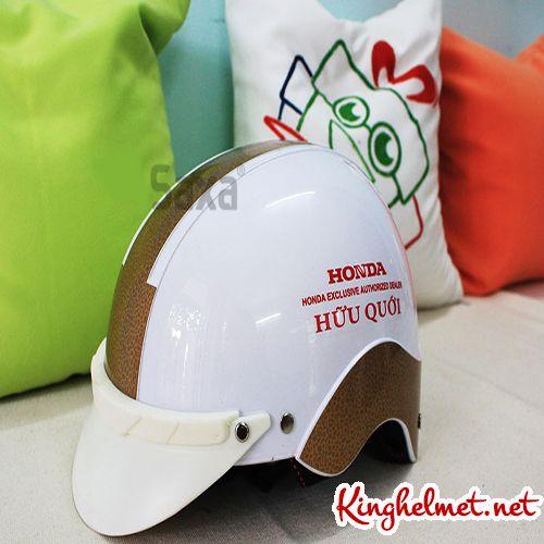 Mẫu nón bảo hiểm đại lý Honda hữu quới xưởng sản xuất Kinghelmet