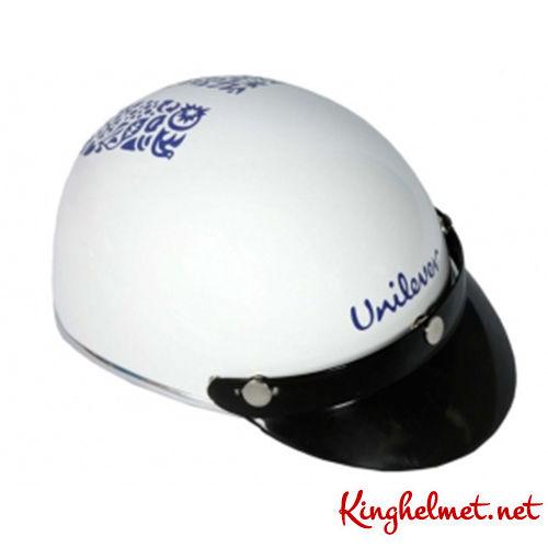Mẫu nón bảo hiểm quảng cáo Unilever làm quà tặng ở TPHCM xưởng sản xuất Kinghelmet