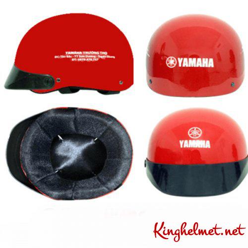Mẫu nón bảo hiểm quảng cáo Yamaha màu đỏ làm quà tặng ở TPHCM xưởng sản xuất Kinghelmet