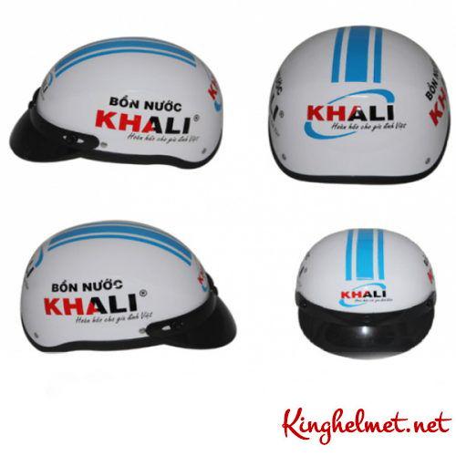 Mẫu nón bảo hiểm quảng cáo Khali làm quà tặng ở TPHCM xưởng sản xuất Kinghelmet