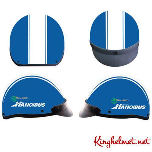 Mẫu nón bảo hiểm quảng cáo HanoiBus làm quà tặng ở TPHCM xưởng sản xuất Kinghelmet