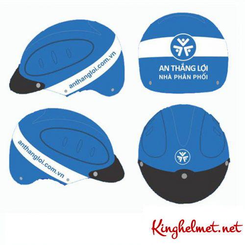 Mẫu nón bảo hiểm quảng cáo An Thắng Lợi làm quà tặng ở TPHCM xưởng sản xuất Kinghelmet