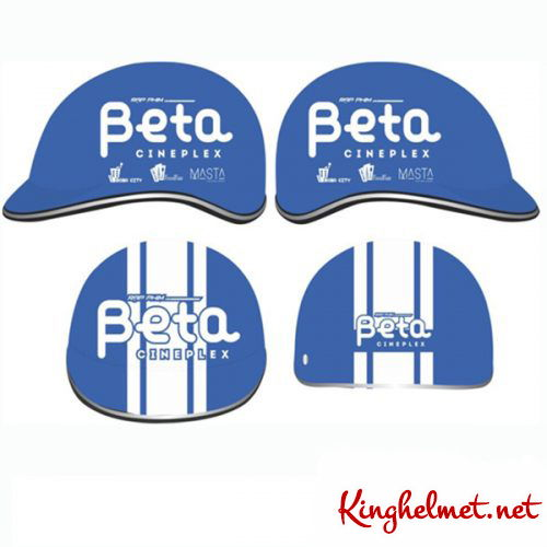 Mẫu nón bảo hiểm quảng cáo Beta QT03 làm quà tặng ở TPHCM xưởng sản xuất Kinghelmet