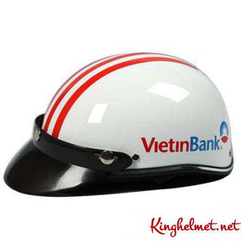 Mẫu nón bảo hiểm quảng cáo Vietinbank làm quà tặng ở TPHCM xưởng sản xuất Kinghelmet
