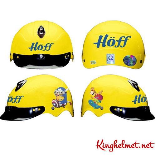Mẫu nón bảo hiểm quảng cáo Hoff làm quà tặng ở TPHCM xưởng sản xuất Kinghelmet