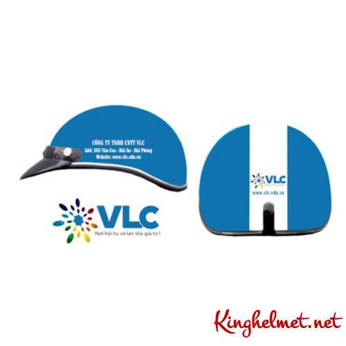 Mẫu nón bảo hiểm quảng cáo VLC làm quà tặng ở TPHCM xưởng sản xuất Kinghelmet