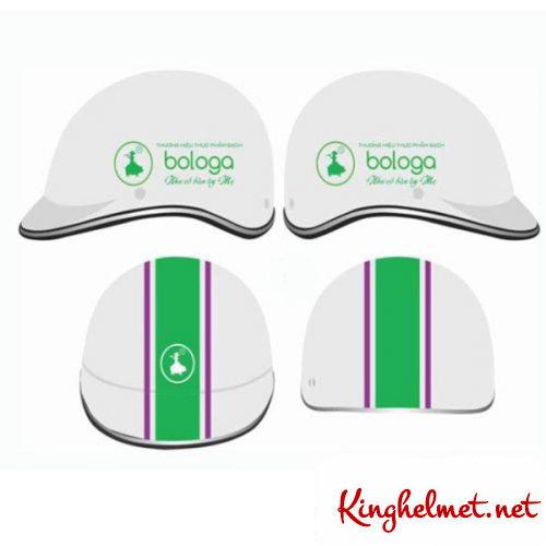 Mẫu nón bảo hiểm quảng cáo Bologa làm quà tặng ở TPHCM xưởng sản xuất Kinghelmet
