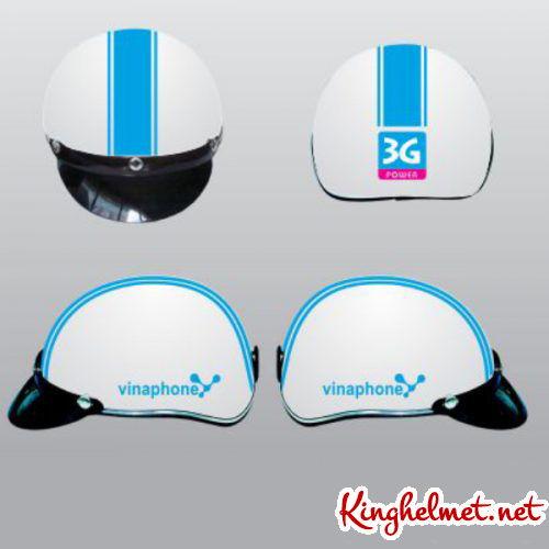 Mẫu nón bảo hiểm quảng cáo Vinaphone ở TPHCM xưởng sản xuất Kinghelmet