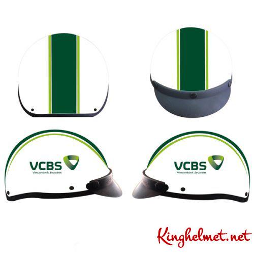 Mẫu nón bảo hiểm quà tặng ngân hàng Vietcombank Kinghelmet