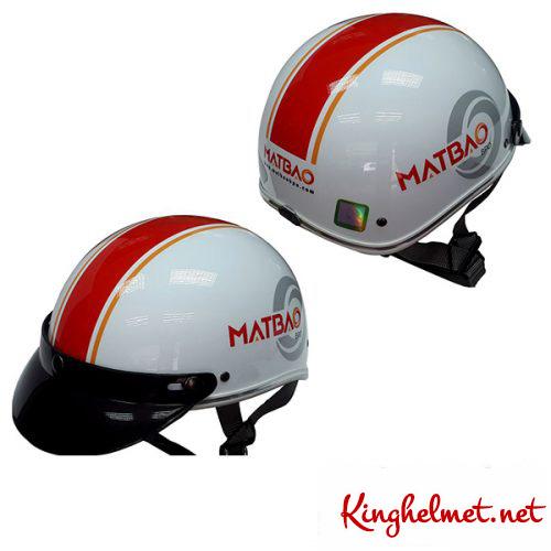 Mẫu nón bảo hiểm quảng cáo Mắt Bão làm quà tặng ở TPHCM xưởng sản xuất Kinghelmet