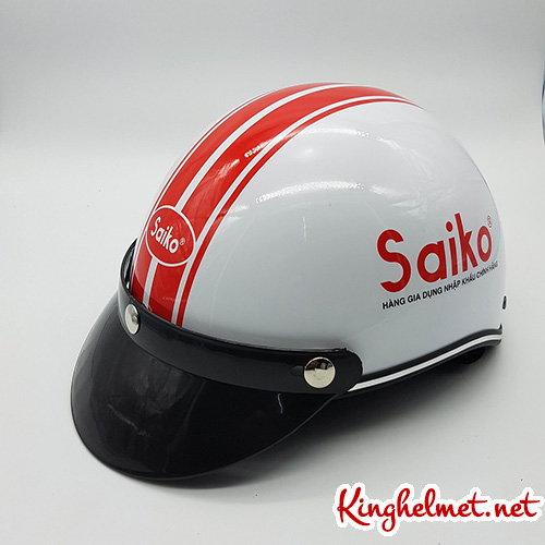 Mẫu nón bảo hiểm quảng cáo Saiko làm quà tặng ở TPHCM xưởng sản xuất Kinghelmet
