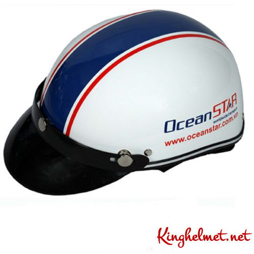 Mẫu nón bảo hiểm quảng cáo OceanStar làm quà tặng ở TPHCM xưởng sản xuất Kinghelmet