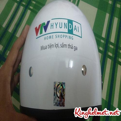 Mẫu nón bảo hiểm quảng cáo VTV Huyndai làm quà tặng ở TPHCM xưởng sản xuất Kinghelmet