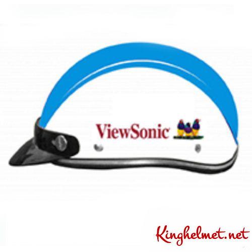 Mẫu nón bảo hiểm quảng cáo ViewSonic ở TPHCM xưởng sản xuất Kinghelmet