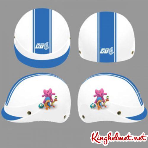 Mẫu nón bảo hiểm quảng cáo Truyền Hình VTC xưởng sản xuất Kinghelmet