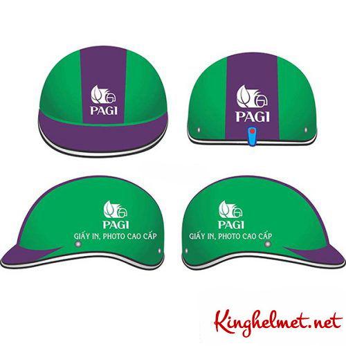 Mẫu nón bảo hiểm quảng cáo Pagi làm quà tặng ở TPHCM xưởng sản xuất Kinghelmet